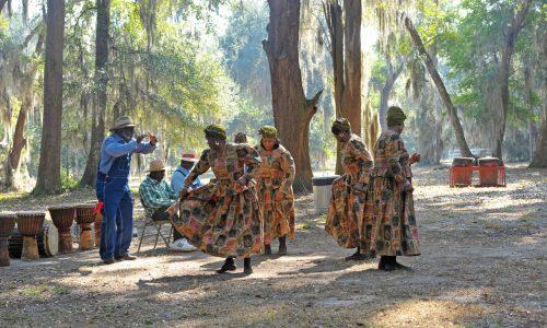 Black History Day 02-19-11 at Hofwyl-Broadfield Plantation near Brunswick, Georgia in Glynn County